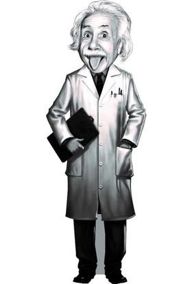 Albert Einstein Karikatür Ayraç