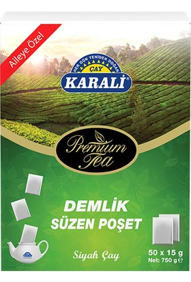 Karali Premium Demlik Poşet Siyah Çay 50x15 gr