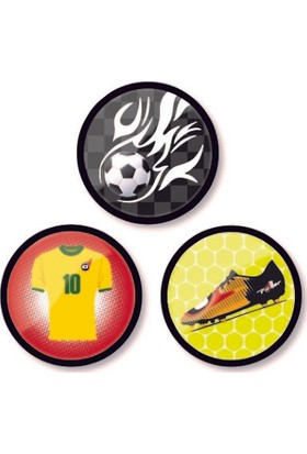 Nikidom Roller Çanta Için 3.Lü Rozet Aksesuar Goal Desen