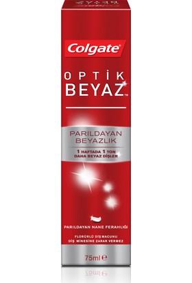 Colgate Optik Beyaz Parıldayan Beyazlık Beyazlatıcı Diş Macunu 75 ml