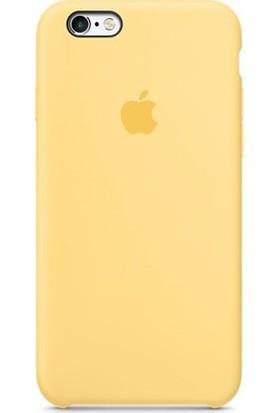 Casethrone Apple iPhone 6 Plus-6s Plus Lansman Sarı Silikon Kılıf Kauçuk Arka Kapak