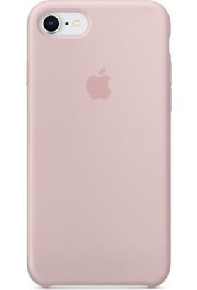 Casethrone Apple iPhone 7 Lansman Kum Pembe Silikon Kılıf Kauçuk Arka Kapak