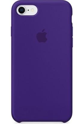 Casethrone Apple iPhone 7 Lansman Mor Silikon Kılıf Kauçuk Arka Kapak