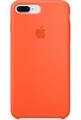 Casethrone Apple iPhone 7 Plus Lansman Turuncu Silikon Kılıf Kauçuk Arka Kapak