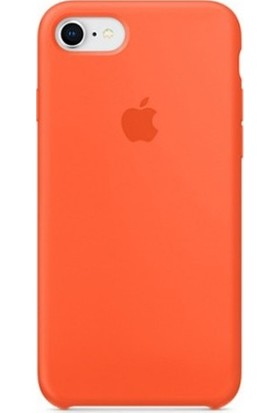Casethrone Apple iPhone 8 Lansman Turuncu Silikon Kılıf Kauçuk Arka Kapak