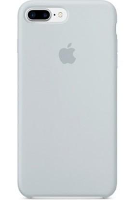 Casethrone Apple iPhone 8 Plus Lansman Sis Mavisi Silikon Kılıf Kauçuk Arka Kapak