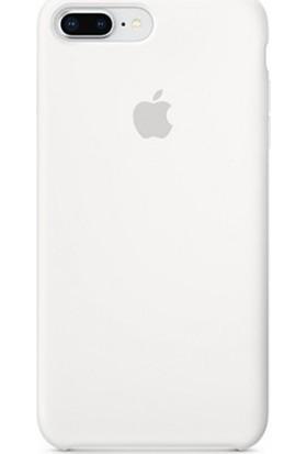 Casethrone Apple iPhone 8 Plus Lansman Beyaz Silikon Kılıf Kauçuk Arka Kapak