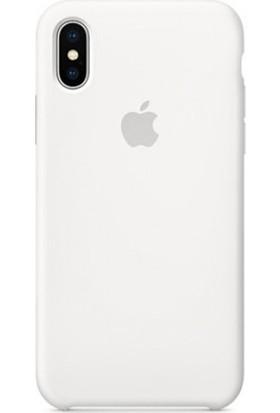 Casethrone Apple iPhone X / Xs Lansman Beyaz Silikon Kılıf Kauçuk Arka Kapak