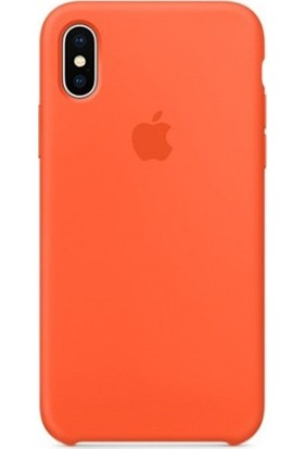 Casethrone Apple iPhone X / Xs Lansman Turuncu Silikon Kılıf Kauçuk Arka Kapak