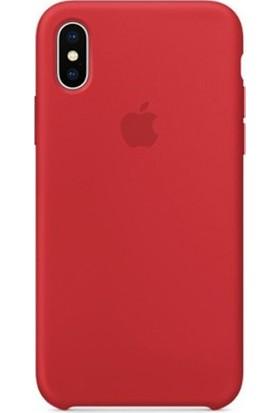 Casethrone Apple iPhone X / Xs Lansman Kırmızı Silikon Kılıf Kauçuk Arka Kapak