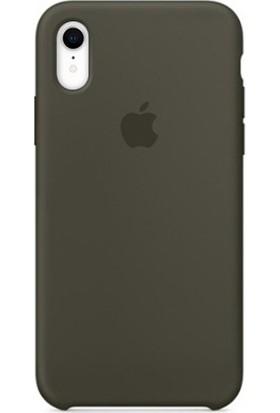 Casethrone Apple iPhone Xr Lansman Zeytin Yeşili Si̇li̇kon Kilif Kauçuk Arka Kapak