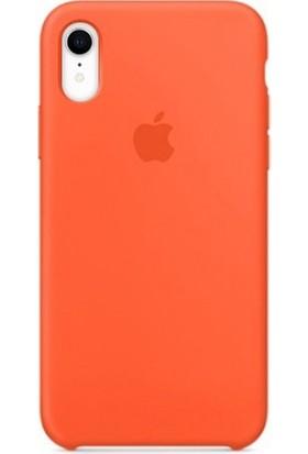 Casethrone Apple iPhone Xr Lansman Turuncu Silikon Kılıf Kauçuk Arka Kapak
