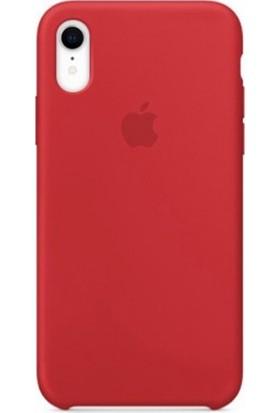 Casethrone Apple iPhone Xr Lansman Kırmızı Silikon Kılıf Kauçuk Arka Kapak