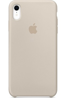 Casethrone Apple iPhone Xr Lansman Bej Silikon Kılıf Kauçuk Arka Kapak