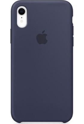 Casethrone Apple iPhone Xr Lansman Lacivert Si̇li̇kon Kilif Kauçuk Arka Kapak