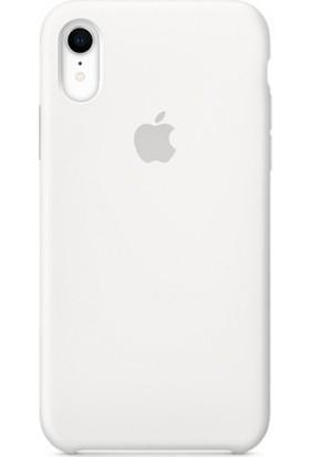 Casethrone Apple iPhone Xr Lansman Beyaz Silikon Kılıf Kauçuk Arka Kapak