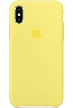 Casethrone Apple iPhone Xs Max Lansman Sarı Silikon Kılıf Kauçuk Arka Kapak