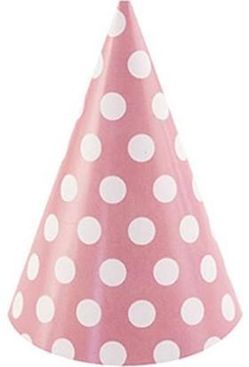 Event Party Store Külah Şapka Pembe Puanlı 6'lı