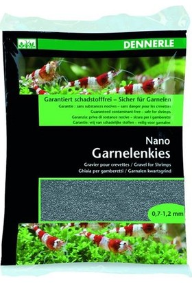 Dennerle Nano Gravel For Shrimps Arkansas Grey 0.7-1.2mm 2Kg