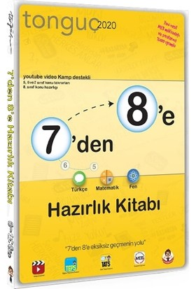 Tonguç Akademi 7'den 8'e Hazırlık Kitabı