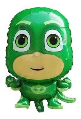 Happyland Pijamaskeliler Kertenkele Folyo Balon Pija Masks Uçan Balon Yeşil 1 Adet