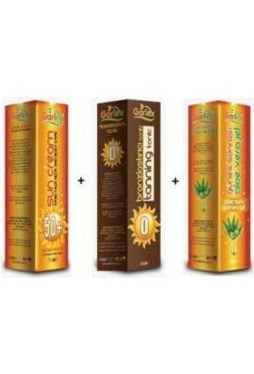 Garlex Set Güneş Kremi + Bronzlaştıcı + Aloevera Jel 250 ml