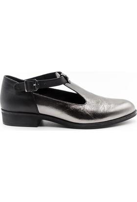 Venüs 8145405Y Kadın Ayakkabı Siyah Platin