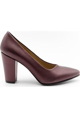 Aktenli 1832165 Kadın Ayakkabı Bordo