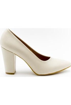 Aktenli 1832165 Kadın Ayakkabı Krem