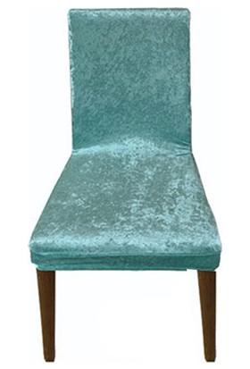 Sandalye Kılıfı Kadife Mint