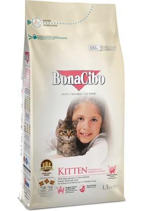 Bonacibo Kitten Tavuklu (Hamsi ve Pirinç Eşliğinde) Yavru Kedi Maması 1,5 kg