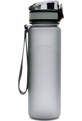 Uzspace 3026 - 500 ml Gri Tritan Kırılmaz Matara/suluk