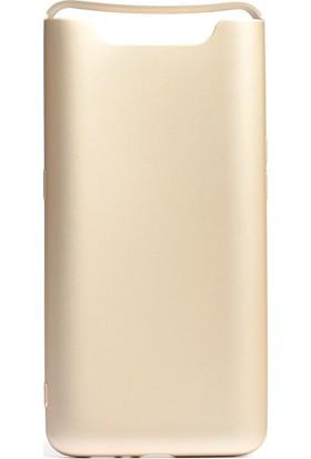 KNY Samsung Galaxy A80 Kılıf Ultra İnce Mat Silikon + Cam Ekran Koruyucu