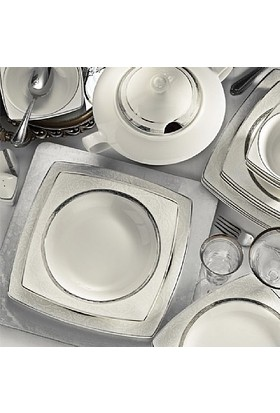 Kütahya Porselen Bone Mare 62 Parça 9620 Desenli Yemek Takımı+
