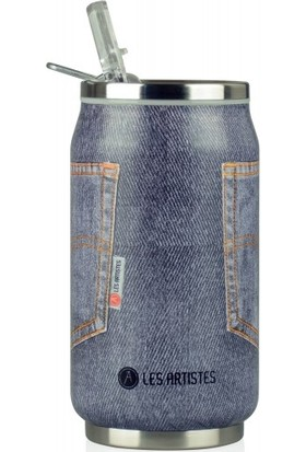 Les Artistes Paris Pull Can'it 0.28L Termos Mug Gri Jean