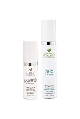 Zorah Purete - Inua Set Zorah Inua Nemlendirici ve Yağ Düzenleyici Krem + Purete Night Treatment