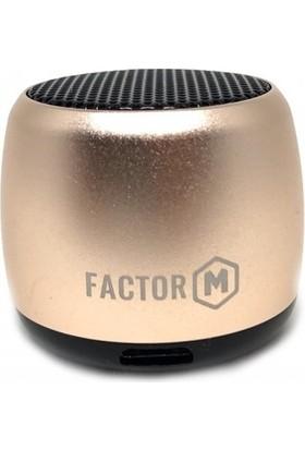 Factor-M Mini Kablosuz Hoparlör - Gold