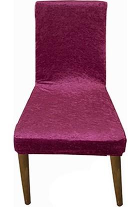 Gülizhome Sandalye Kılıfı Kadife P.mor