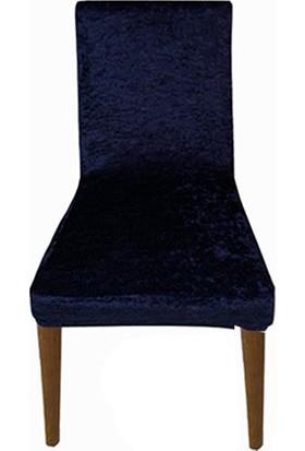 Gülizhome Sandalye Kılıfı Kadife Lacivert