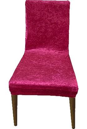 Gülizhome Sandalye Kılıfı Kadife Fuşya