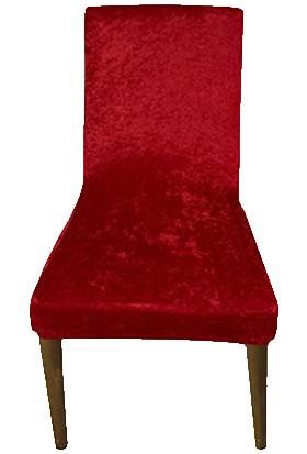 Gülizhome Sandalye Kılıfı Kadife Kırmızı