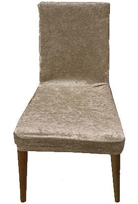 Gülizhome Sandalye Kılıfı Kadife Vizon