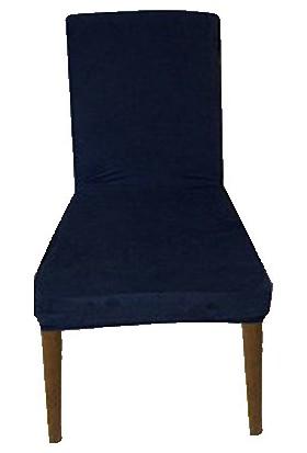 Gülizhome Sandalye Kılıfı Süet Petrol