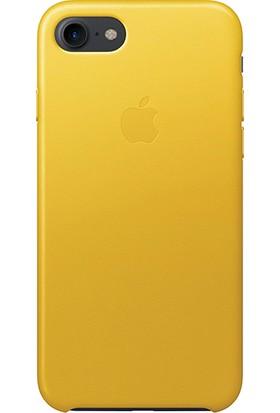 Daytona Apple iPhone 7/8 Deri Kılıf Sarı