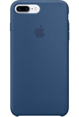 Daytona Apple iPhone 7/8 Plus Silikon Kılıf Koyu Mavi