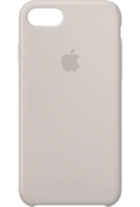 Daytona Apple iPhone 7/8 Açık Gri (Stone) Silikon Kılıf Kauçuk Arka Kapak Açık Gri