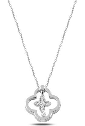 Bakalcik Gümüş (925 Ayar), Rodyum Kaplama, Kadın Kolye 2,40 Gr.