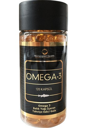 Norwegian Health Omega 3 120 Kapsül