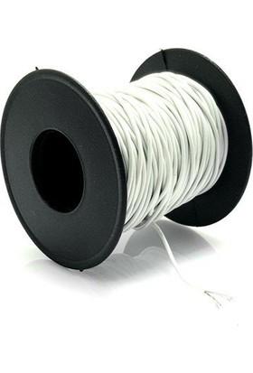 Electroon 0.22MM 20MT Çok Damarlı Beyaz Montaj Kablosu