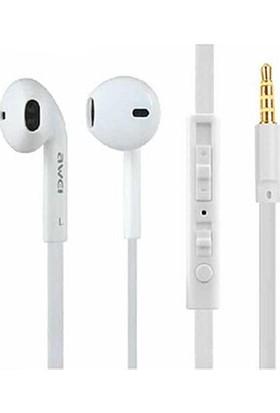 Awei ES-15HI Mikrofonlu Kulakiçi Kulaklık - Beyaz